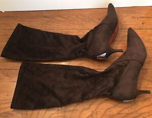 8 1/2 Donald J. Pliner Elisa Expresso Suede Elastic Boot