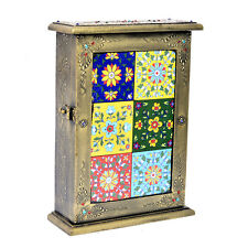 Wooden Decorative Key Box Holder Premium Quality Vintage Look Wall Mount Cabinet