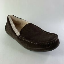 Abeo B.I.O System Arden Men's Slippers Sz  9 Neutral Sheepskin Sock Lining Brown