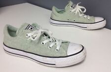 CONVERSE ALL STAR Mint Green Black White Laces Rubber Sole Sneakers Sz 6 B3974