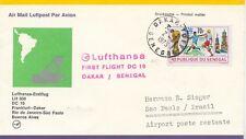 "SENEGAL 1975 first Lufthansa-flight Flight LH 500 with DC 10 ""DAKAR - SAO PAULO"""