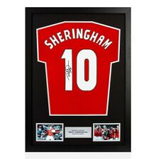 0639ca0e424 Framed Teddy Sheringham Signed Manchester United Shirt - Number 10 Autograph