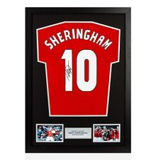 Framed Teddy Sheringham Signed Manchester United Shirt - Number 10 Autograph