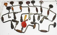 Collection of 11 Vintage Ratcheting Hand Brace Drills - FREE Shipment  [PL3730]