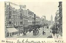 Vintage Postcard High Street Scene Belfast Northern Ireland UK B&R Series