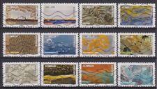 France 2018 : les 12 timbres du Carnet - Oeuvre de la Nature - oblitérés