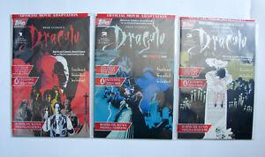Bram Stoker's Dracula Comic Adaptation #1, 2, 3 Topps Comics 1992