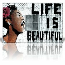 "Wall26 ""Life is Beautiful"", Thierry Guetta - Mr. Brainwash - Canvas Art - 24x36"