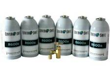 r600, R600 Refrigerant, Enviro-Safe R-600 6 oz (6) cans and tap kit #8061