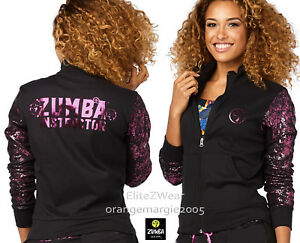 Zumba Instructor Zip Up Jacket Jumper Cardigan Zin Exclusive! fr U.K Convention