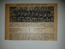 Abington Old Town High School Massachusetts 1928 Football Team Picture
