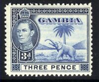Gambia 1938 - 46 KGV1 3d Light Blue & Grey Blue Umm SG 154 ( L1298 )