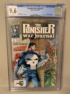 Punisher War Journal #2 CGC 9.6 NM+ Daredevil