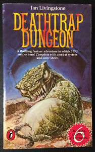 DEATHTRAP DUNGEON Fighting Fantasy #6 1984 Ian Livingstone Star Cover VG+