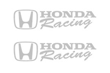 Honda Racing Decal SILVER Sticker Civic Accord CRX Turbo SI Auto drift decals