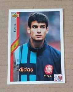 "Upper Deck World Cup USA 94 Card #155 Josep ""Pep"" Guardiola Rookie Spain Espana"