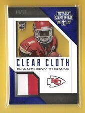 De'Anthony Thomas 2014 Totally Certified Clear Cloth 2 CLR Patch #08/50 Chiefs