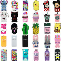 3D Cartoon Soft Silicone Rubber Case Cover Skin For iPhone 5S 8 7 6 Plus XS R 4S