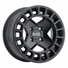 14 inch 14x7 Black Rhino York Utv Matte Black wheel rim 4x110 +10