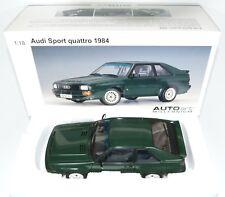 AUDI Sport quattro 1984 SWB kurz - grün green vert verde - AUTOart 70311 1:18