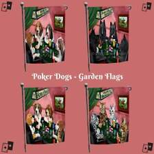 Home of 4 Dogs Cats Playing Poker Pet Photo Garden Flag Home Décor