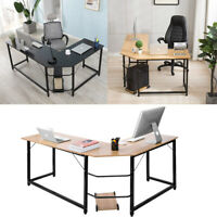 L-Shaped Corner Computer Desk Home Office Study Laptop PC Work Table