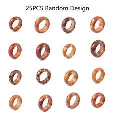25pcs/lot Fashion Natural Wood Rings Mens Women Charm Band Jewelry Gift Hot Sale