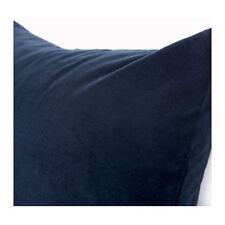 "IKEA SANELA VELVET CUSHION COVER RICH NAVY BLUE COTTON 20 x 20"" NEW FREE SHIP"