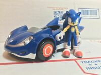 "Sonic The Hedgehog Jazwares 3"" Figure Sega All-Stars Racing Vehicle All Star Car"
