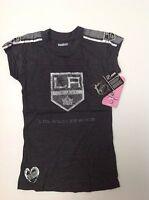 New NHL LA KINGS Hockey Reebok Jersey Fashion Faded Style Girls Youth T Shirt