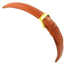 20mm Morellato Tan Brown Genuine Italian Leather Padded Stitched Watch Band 1560
