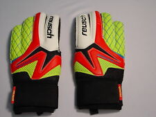 Reusch Soccer Goalie Gloves Waorani SG Finger Support Stays #3470822S Red SZ 11