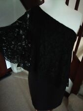 LADIES Black One Shoulder Lace Sheath Dress For Christmas/New Y Size 4  RRP £114