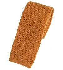 Men's Plain Orange Wool Knitted Tie (U102/36)