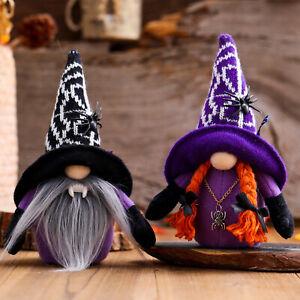 Halloween Doll Spider Handmade Plush Gnome Swedish Holiday Party Decoration Gift