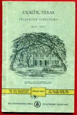 1957 May Uvalde Texas tx Southwestern Bell Telephone Co Directory Phone Book