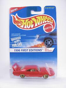Hot Wheels 1996 - BLUE CRAD COLLECTOR - '96 DODGE CHARGER DAYTONA