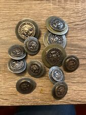 Vintage French Lot 12 Ludovicus Rex Plures Non Capit Orbis Silvertone Buttons
