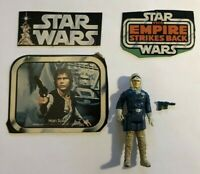 Vintage Star Wars Han Solo (Hoth Outfit) COMPLETE 1980 w/Vintage Box Cut-outs