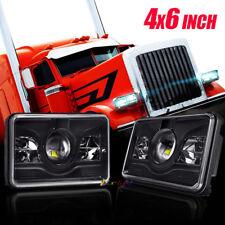 "DOT Approved 4x6"" CREE LED Headlight For Peterbilt Kenworth T800 T400 T600 W900B"