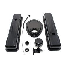 Black Chevy Dress Up Kit Short Valve Covers 1958-86 SBC 283 305 327 350 400
