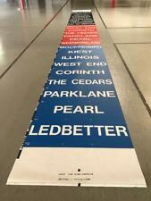Dallas DART Light Rail Mylar End Sign Curtain Rollsign Ledbetter, Mockingbird