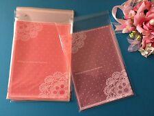 20 X Adhesivo de embalaje cookies bolsas de plástico para Hornear Boda 16x12cm paquete B006