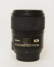 Nikon Micro-NIKKOR  60mm f/2.8G ED FX Macro Lens Excellent Condition