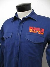 RARE! WRANGLER RODEO TEAM AUTHENTIC EMBROIDERED SLEEVE WESTERN SHIRT XL men#6302