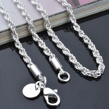 16to 24inch Fashion women Silver 925 Rope chain Necklace jewelry women wedding