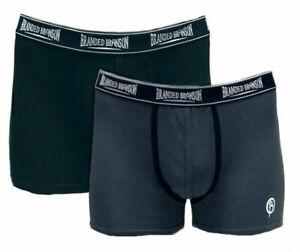 Branded Branson Men's Cotton Boxer Briefs Short Leg Trunks
