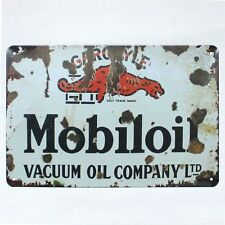 Metal Tin Sign MOBIL OIL Decor Bar Pub Home Vintage Retro Poster Cafe