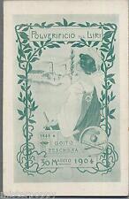 Regio Polverificio sul Liri Art Nouveau  WWI PC Circa 1904