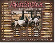Remington Sporting Cartridges Rifles Metal Sign Tin New Vintage Style USA #1679